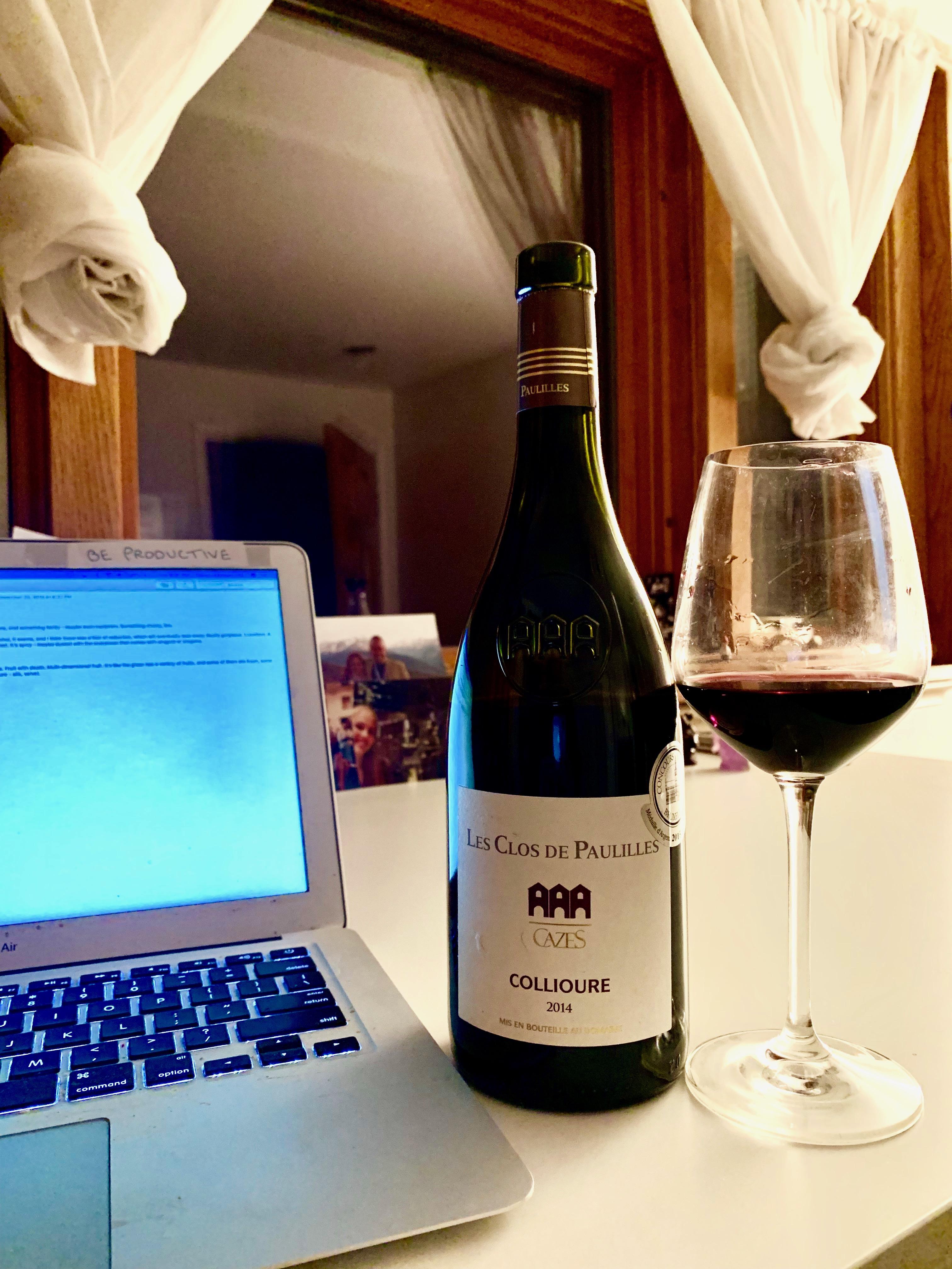 Collioure Les Clos de Paulilles an excellent everyday Roussilon wine.
