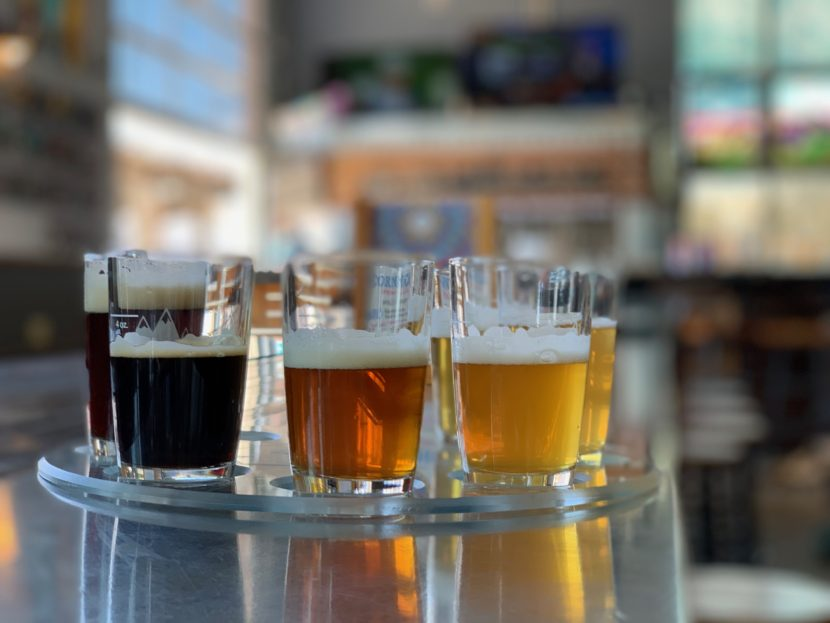 A selection of lager beers from Wibby Brewing in Longmont, Colorado.